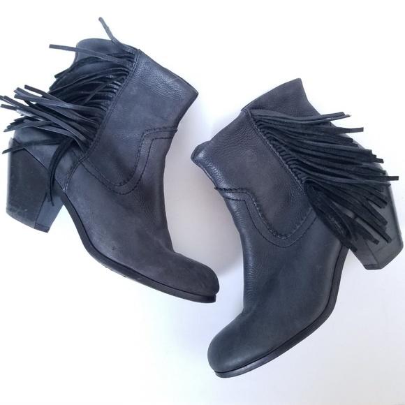 330881f959bf Sam Edelman Louie Bootie Ankle Boot Fringe Western.  M 5b75c425de6f62c53029ebe8